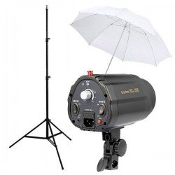 Kit Flash Estudio Godox 160w + Pie + Paraguas
