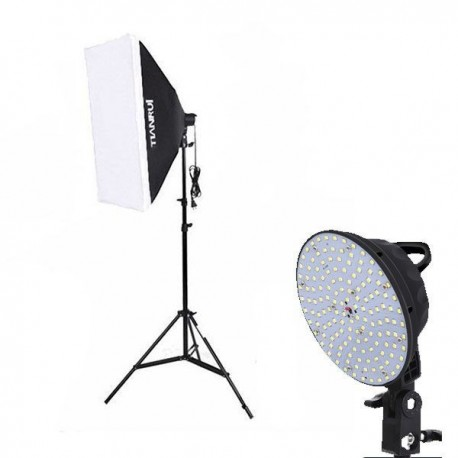 Kit iluminación Led + Softbox 50x70cm + Pie