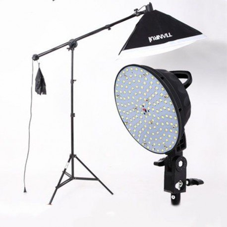 Kit iluminación LED jirafa + Softbox 50x70cm + Pie