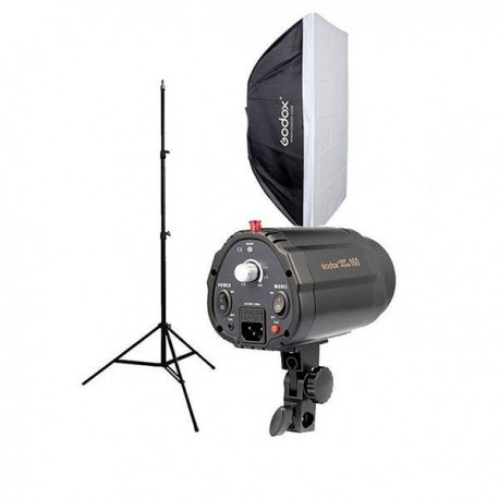 Kit Flash Estudio Godox 160w + Pie + Softbox 50x70cm